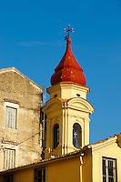 Church Spire Of a Greek Orthodox Church, Corfu Old Town, Greek Ionian Islands