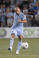 Aurelien Collin (78) defender Sporting KC in action..Sporting Kansas City and New England Revolution played to a 0-0 tie at LIVESTRONG Sporting Park, Kansas City, KS.