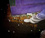 WARSAW, POLAND, JANUARY 2013:.Bottle caps at the Freedom club. .(Photo by Piotr Malecki / Napo Images)..Warszawa, styczen 2013:.Kapsle po alkoholu w klubie Freedom..Fot: Piotr Malecki / Napo Images