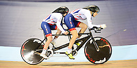 Picture by Simon Wilkinson/SWpix.com - 04/03/2017 - Cycling 2017 UCI Para-Cycling Track World Championships, Velosports Centre, Los Angeles USA - Lora FACHIE and Hazel  MACLEOD