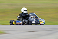 Teddy Bassick, 96, races in the Rotax Heavy class during the 2012 Superkart National Champs and Grand Prix at Manfeild in Feilding, New Zealand on Saturday, 7 January 2011. Credit: Hagen Hopkins.