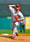 1 March 2009: St. Louis Cardinals' starting pitcher Joel Pineiro on the mound during a Spring Training game against the Florida Marlins at Roger Dean Stadium in Jupiter, Florida. The Cardinals outhit the Marlins 20-13 resulting in a 14-10 win for the Cards. Mandatory Photo Credit: Ed Wolfstein Photo