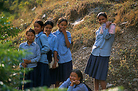 School girl's in Rolpa District, Nepal