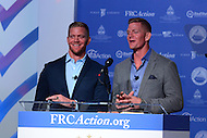 Washington, DC - September 9, 2016: Brothers David and Jason Benham speak to attendees of the Values Voter Summit, held at the Omni Shoreham hotel in the District of Columbia, September 9, 2016.  (Photo by Don Baxter/Media Images International)