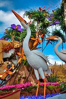 "Downey ""Exploring the Everglades"", Tournament of Roses, Parade, Float, Pasadena, Ca,"