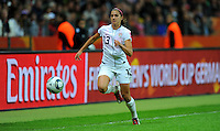 Alex Morgan of team USA during the FIFA Women's World Cup Final USA against Japan at the FIFA Stadium in Frankfurt, Germany on July 17th, 2011.