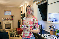 Krasnodar, Russia, 16/03/2009..World champion heptathlete Tatyana Chernova in her apartment in her home city of Krasnodar. Chernova, who won bronze in the Beijing Olympic Games, is tipped for gold in London.