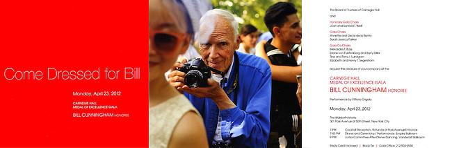 Carnegie Hall Medal of Excellence Gala honoring Bill Cunningham