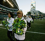Seattle Seahawks dance and cheer squad depart the field after the Super Bowl Championship celebrations at CenturyLink Field on February 5, 2014 in Seattle, Washington. ©2014. Jim Bryant Photo. ALL RIGHTS RESERVED.