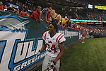 Ole Miss running back Brandon Bolden (34) at the Louisiana Superdome in New Orleans, La. on Saturday, September 11, 2010. Ole Miss won 27-13.
