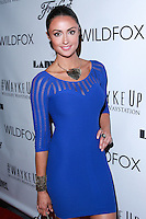 LOS ANGELES, CA, USA - DECEMBER 14: Katie Cleary arrives at the Wayke Up Fundraiser presented by Wildfox and Ladygunn Magazine hosted by Nikki Reed held at the Sofitel Hotel on December 14, 2014 in Los Angeles, California, United States. (Photo by David Acosta/Celebrity Monitor)
