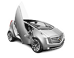 2011 Cadillac ULC Urban Luxury Concept car with scissor doors isolated on white background with clipping path