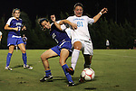 24 September 2009: Duke's Cody Newman (8) and North Carolina's Maria Lubrano (91). The University of North Carolina Tar Heels defeated the Duke University Blue Devils 2-1 in sudden victory overtime at Fetzer Field in Chapel Hill, North Carolina in an NCAA Division I Women's college soccer game.