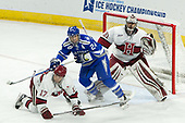 Sean Malone (Harvard - 17), A.J. Reid (AFA - 24), Merrick Madsen (Harvard - 31) - The Harvard University Crimson defeated the Air Force Academy Falcons 3-2 in the NCAA East Regional final on Saturday, March 25, 2017, at the Dunkin' Donuts Center in Providence, Rhode Island.