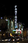 The Art Deco Pantages Theater on Hollywood Blvd.