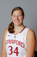 Tess Picknell with Stanford Women's basketball team. Photo taken on Wednesday, October 2, 2013