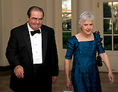 Associate Justice of the United States Supreme Court Antonin Scalia and his wife, Maureen, arrive for the Official Dinner in honor of Prime Minister David Cameron of Great Britain and his wife, Samantha, at the White House in Washington, D.C. on Tuesday, March 14, 2012..Credit: Ron Sachs / CNP.(RESTRICTION: NO New York or New Jersey Newspapers or newspapers within a 75 mile radius of New York City)