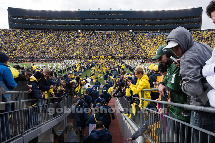 The University of Michigan football team falls to Michigan State University 27-23 at Michigan Stadium in Ann Arbor, MI on October 17, 2015.