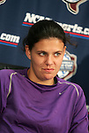 3 December 2005: Christine Sinclair. The University of Portland Pilots held a press conference the day before playing in the NCAA Women's College Cup, the Division I Championship soccer game at Aggie Soccer Stadium in College Station, TX.