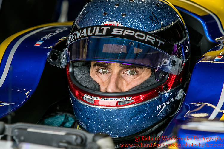 8 Nicolas Prost (FRA)  Renault e.Dams Formula E - Donington Test 24th August 2015<br /> <br /> Photo:  - Richard Washbrooke Photography