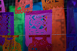 Traditional day of the dead papel picado for sale at Naucalpan's municipal market. Naucalpan de Ju&aacute;rez, M&eacute;xico, M&eacute;xico. Oct. 19, 2012.