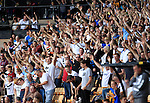 Port Vale 3 Doncaster Rovers 0, 22/08/2015. League One, Vale Park. Port Vale fans in jubilant mood. Photo by Paul Thompson.