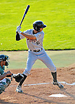 2 July 2011: Tri-City ValleyCats outfielder Justin Gominsky in action against the Vermont Lake Monsters at Centennial Field in Burlington, Vermont. The Lake Monsters rallied from a 4-2 deficit to defeat the ValletCats 7-4 in NY Penn League action. Mandatory Credit: Ed Wolfstein Photo