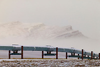Trans Alaska Oil Pipeline, Slope Mountain, Brooks range, Alaska