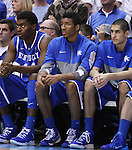 Kentucky Wildcats forward Marcus Lee (00) looks on with disappointment at the end of the UK men's basketball vs. North Carolina at the Dean Smith Center in Chapel Hill, N.C., on Saturday, December 14, 2013. Photo by Emily Wuetcher | Staff
