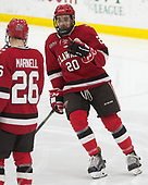 Joe Sullivan (SLU - 20) - The Harvard University Crimson defeated the St. Lawrence University Saints 6-3 (EN) to clinch the ECAC playoffs first seed and a share in the regular season championship on senior night, Saturday, February 25, 2017, at Bright-Landry Hockey Center in Boston, Massachusetts.