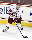 Tommy Cross (BC - 4) - The Boston College Eagles defeated the visiting Merrimack College Warriors 3-2 on Friday, October 29, 2010, at Conte Forum in Chestnut Hill, Massachusetts.
