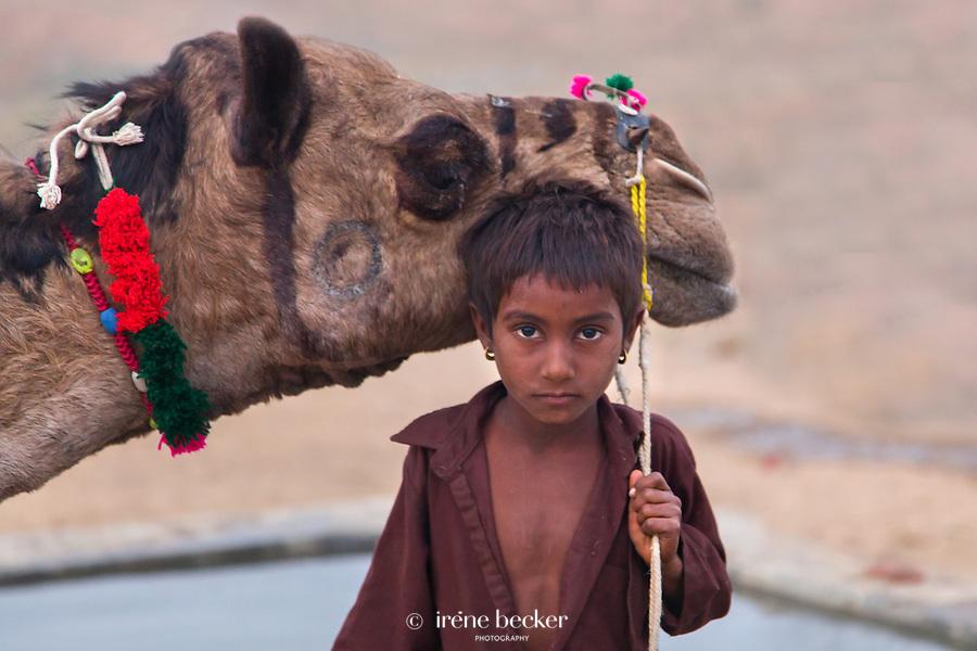 Boy at the Pushkar Fair. Rajasthan, India.
