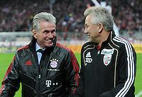 Fussball DFB Pokal:  Saison   2011/2012  2. Runde  26.10.2011 FC Bayern Muenchen - FC Ingolstadt 04 Trainer Jupp Heynckes  (li, FC Bayern Muenchen) Trainer Benno Moehlmann (re, FC Ingolstadt )