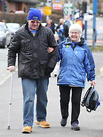 Blackburn Rovers fans arriving at Ewood Park<br /> <br /> Photographer Stephen White/CameraSport<br /> <br /> The EFL Sky Bet Championship - Blackburn Rovers v Bristol City - Monday 17th April 2017 - Ewood Park - Blackburn<br /> <br /> World Copyright &copy; 2017 CameraSport. All rights reserved. 43 Linden Ave. Countesthorpe. Leicester. England. LE8 5PG - Tel: +44 (0) 116 277 4147 - admin@camerasport.com - www.camerasport.com