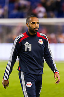 Thierry Henry (14) of the New York Red Bulls. D. C. United defeated the New York Red Bulls 1-0 (2-1 in aggregate) during the second leg of the MLS Eastern Conference Semifinals at Red Bull Arena in Harrison, NJ, on November 8, 2012.