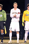 12 November 2013: Wake Forest's Jared Watts. The Wake Forest University Demon Deacons hosted the University of Virginia Cavaliers at Spry Stadium in Winston-Salem, North Carolina in a 2013 NCAA Division I Men's Soccer match and the quarterfinals of the Atlantic Coast Conference tournament. Virginia won the game 1-0 in overtime.