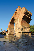 The 4th-century Arch of Roman Tetrach Emperor Galerius, clebrating his victory of the  Sassanid Persians. Thessalonica, Greece.
