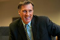 Montreal (Qc) CANADA - File Photo of Maxime Bernier who just resigned as Canada's foreign minister over security breach caused by his relationship with Julie Couillard, A Woman previously married wirh an outlawed biker who was killed and who also dated another criminal, even if she was never accused or convicted.<br /> <br /> On top of that Bernier piled up diplomatic blunder asforeign minister