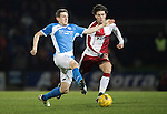 St Johnstone v Rangers&hellip;28.12.16     McDiarmid Park    SPFL<br />Blair Alston and Josh Windass<br />Picture by Graeme Hart.<br />Copyright Perthshire Picture Agency<br />Tel: 01738 623350  Mobile: 07990 594431