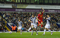 WEST BROMWICH, ENGLAND - Wednesday, September 26, 2012: Liverpool's Sebastian Coates in action against West Bromwich Albion during the Football League Cup 3rd Round match at the Hawthorns. (Pic by David Rawcliffe/Propaganda)
