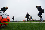 Doncaster Rovers Belles 1 Chelsea Ladies 4, 20/03/2016. Keepmoat Stadium, Womens FA Cup. Doncaster Rovers Belles training session on the astroturf pitch outside The Keepmoat Stadium. Photo by Paul Thompson.