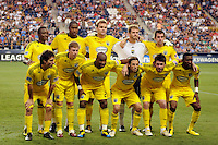 Columbus Crew starting eleven. The Columbus Crew defeated the Philadelphia Union 2-1 during a Major League Soccer (MLS) match at PPL Park in Chester, PA, on August 05, 2010.