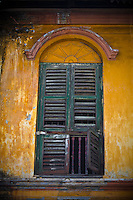 A window in a derelict building in old Georgetown, Penang.