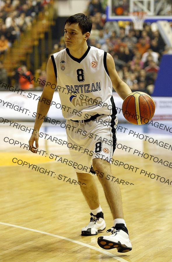 Euroleague, season 2006/07Partizan Vs. Olimpija (Slovenia)Boris BakicBeograd, 17.01.2007.foto: Srdjan Stevanovic