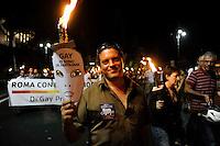 Roma 24 Settembre 2009.Manifestazione di protesta contro il razzismo e l'intolleranza in  seguito ai recenti episodi  di violenza contro i gay a Roma. Rome 24 September 2009.Protest against racism and intolerance following of recent incidents of violence against gays in Rome