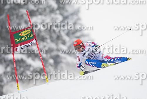 24.02.2013, Kandahar, Garmisch Partenkirchen, AUT, FIS Weltcup Ski Alpin, Riesenslalom, Herren, 1. Durchgang, im Bild Cyprien Richard (FRA) // Cyprien Richard of France in action during 1st run of the mens Giant Slalom of the FIS Ski Alpine World Cup at the Kandahar course, Garmisch Partenkirchen, Germany on 2013/02/24. EXPA Pictures © 2013, PhotoCredit: EXPA/ Johann Groder