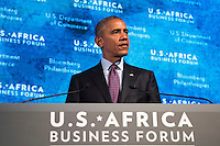 United States President Barack Obama speaks at the U.S.-Africa Business Forum at the Plaza Hotel, September 21, 2016 in New York City. The forum is focused on trade and investment opportunities on the African continent for African heads of government and American business leaders. <br /> Credit: Drew Angerer / Pool via CNP /MediaPunch