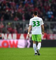 Fussball  1. Bundesliga  Saison 2016/2017  14. Spieltag  FC Bayern Muenchen - VfL Wolfsburg    10.12.2016 Mario Gomez (VfL Wolfsburg) enttaeuscht
