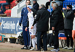 St Johnstone v Inverness Caley Thistle...02.05.15   SPFL<br /> Aaron Doran gets bandaged up<br /> Picture by Graeme Hart.<br /> Copyright Perthshire Picture Agency<br /> Tel: 01738 623350  Mobile: 07990 594431