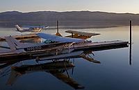 Seaplanes Docked at the Sky Lark Resort at the Splash-In, Lakeport, California, Lake County, California